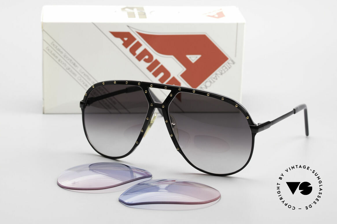 Alpina M1 Lenses New Lenses in baby-blue pink, fancy tint = gradient from sky-blue (baby-blue) to pink, Made for Men and Women