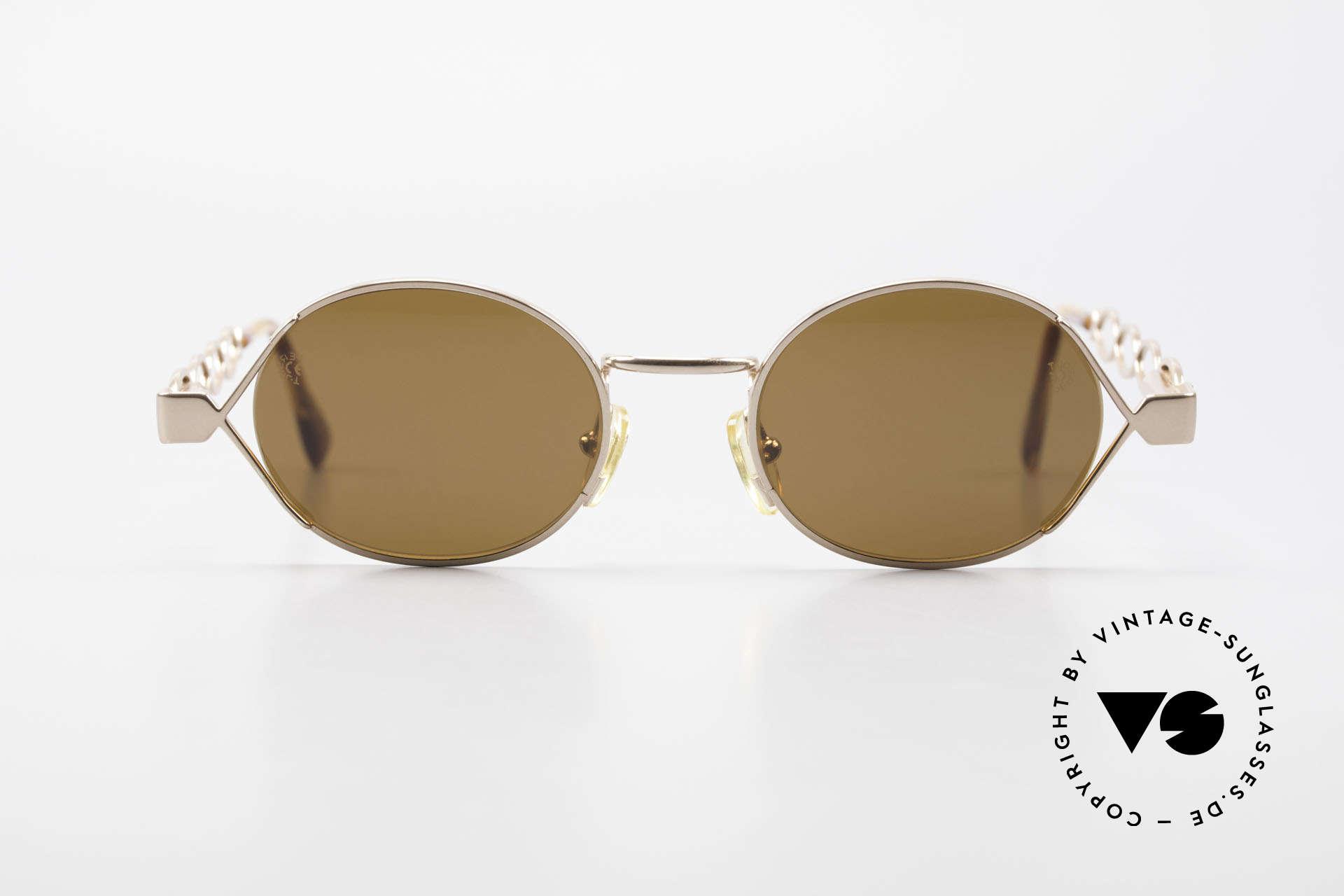 Moschino MM344 Ladies Designer Sunglasses 90s, creative interpretation of the classic round design, Made for Women