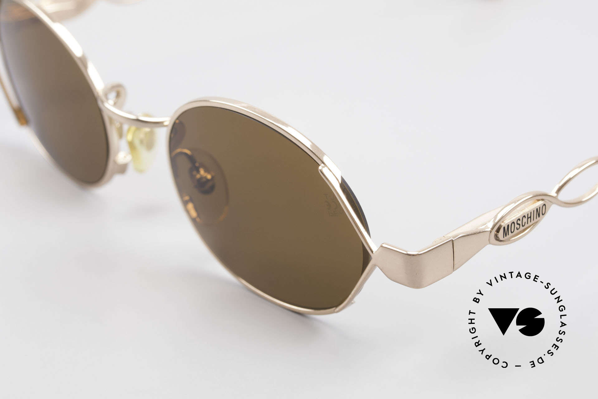Moschino MM344 Ladies Designer Sunglasses 90s, thus, top-quality (spring hinges & copper alloying), Made for Women