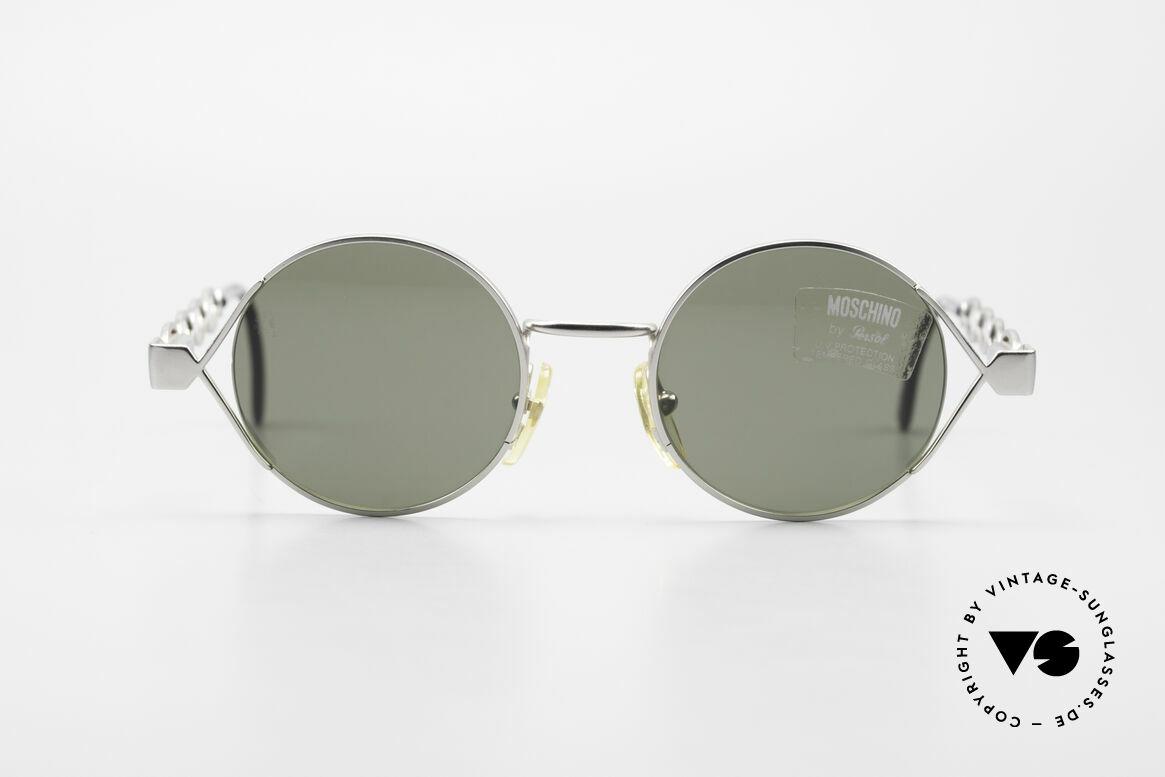 Moschino MM264 90s Ladies Designer Sunglasses, creative interpretation of the classic round design, Made for Women