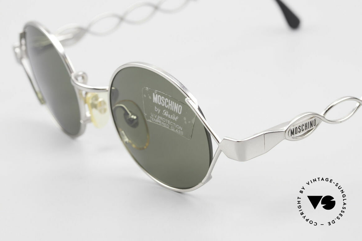 Moschino MM264 90s Ladies Designer Sunglasses, thus, top-quality (spring hinges & silver alloying), Made for Women