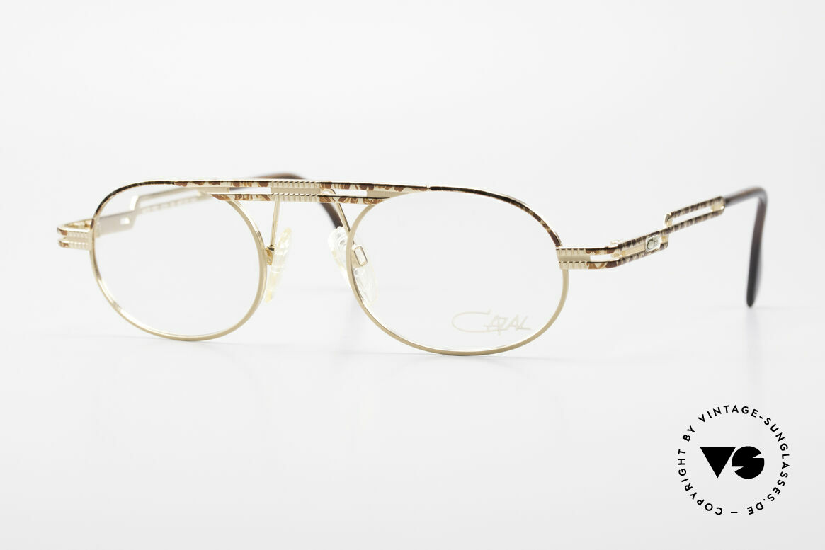 Cazal 762 Oval Vintage Eyeglasses 90's, oval vintage eyeglass-frame by CAZAL from 1997, Made for Men and Women