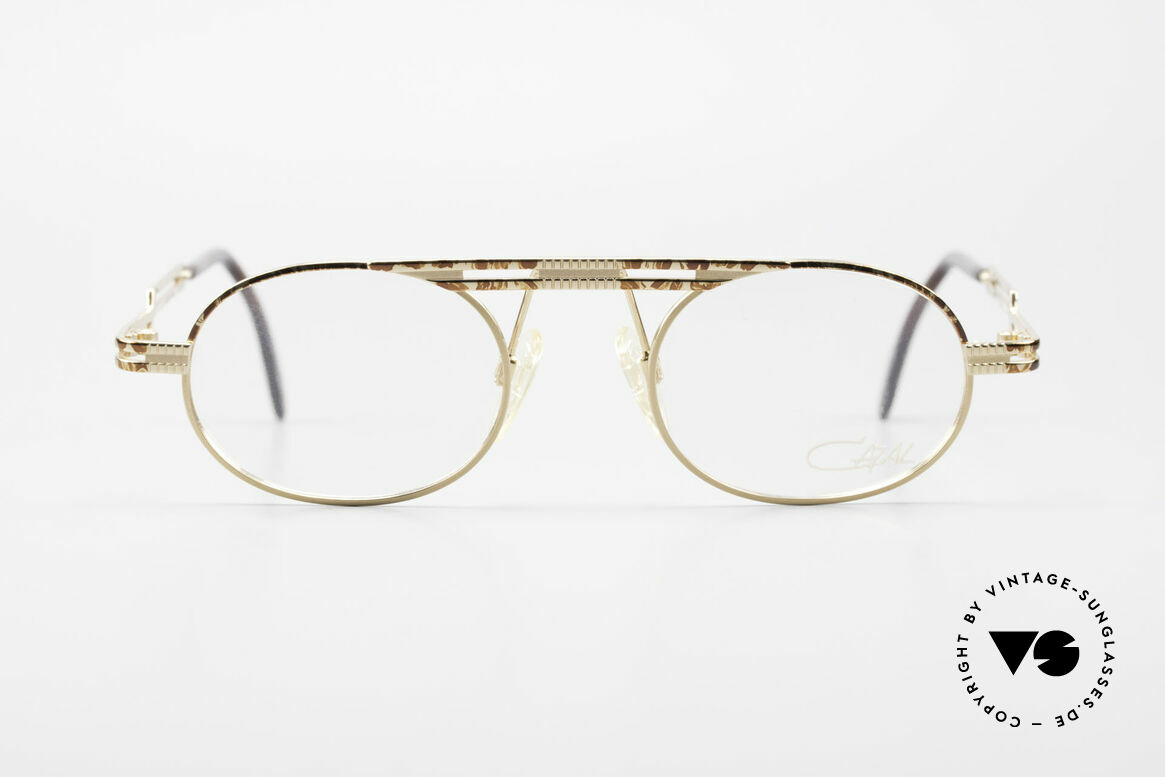 Cazal 762 Oval Vintage Eyeglasses 90's, very creative frame construction (typically Cazal), Made for Men and Women