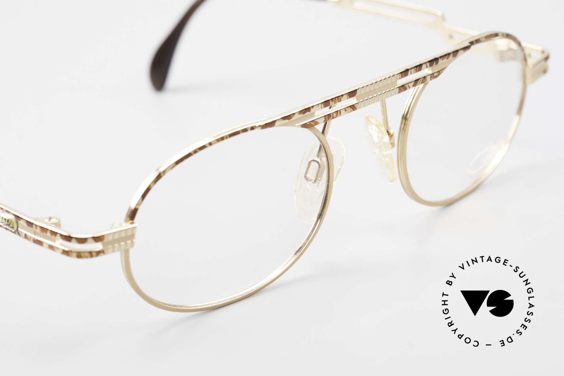 Cazal 762 Oval Vintage Eyeglasses 90's, NO retro; but a 1990's 'made in Germany' original, Made for Men and Women