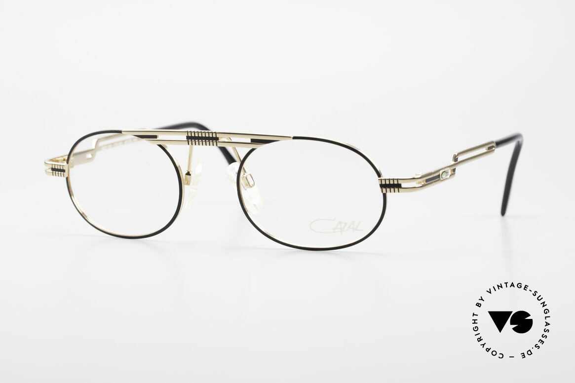 Cazal 762 Oval 90's Vintage Eyeglasses, oval vintage eyeglass-frame by CAZAL from 1997, Made for Men and Women