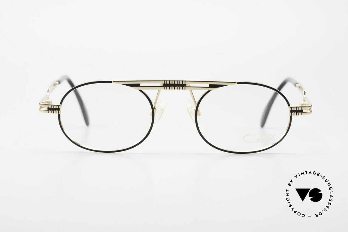 Cazal 762 Oval 90's Vintage Eyeglasses, very creative frame construction (typically Cazal), Made for Men and Women