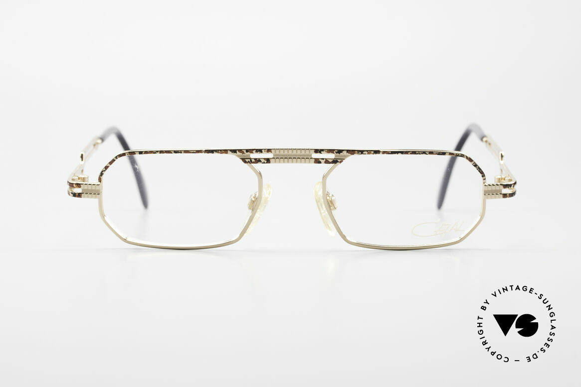 Cazal 767 Square Vintage Eyeglasses 90's, very creative frame construction (typically Cazal), Made for Men and Women