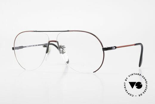 Cazal 723 Rimless 80's Aviator Glasses Details