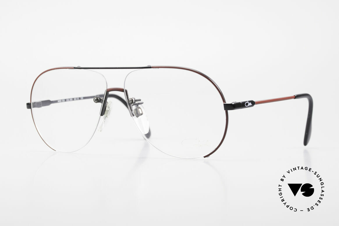 Cazal 723 Rimless 80's Aviator Glasses, rare vintage Cazal designer eyeglasses from 1986, Made for Men
