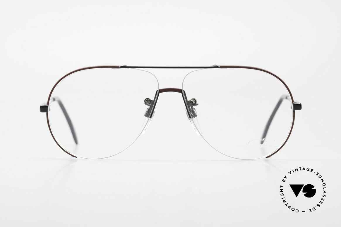 Cazal 723 Rimless 80's Aviator Glasses, interesting lens construction (semi rimless frame), Made for Men