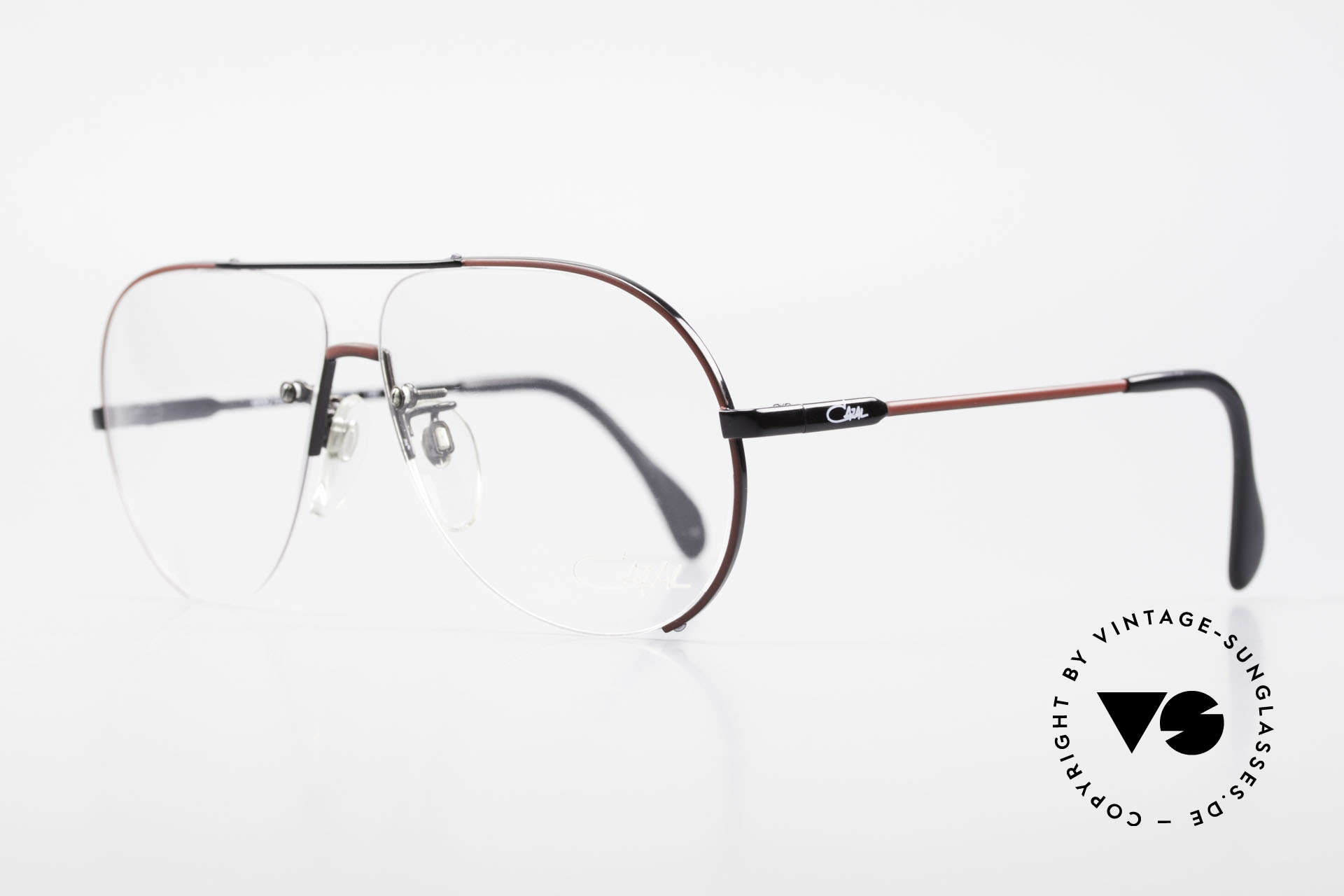 Cazal 723 Rimless 80's Aviator Glasses, the ordinary 'aviator style' interpreted by Mr. Cazal, Made for Men