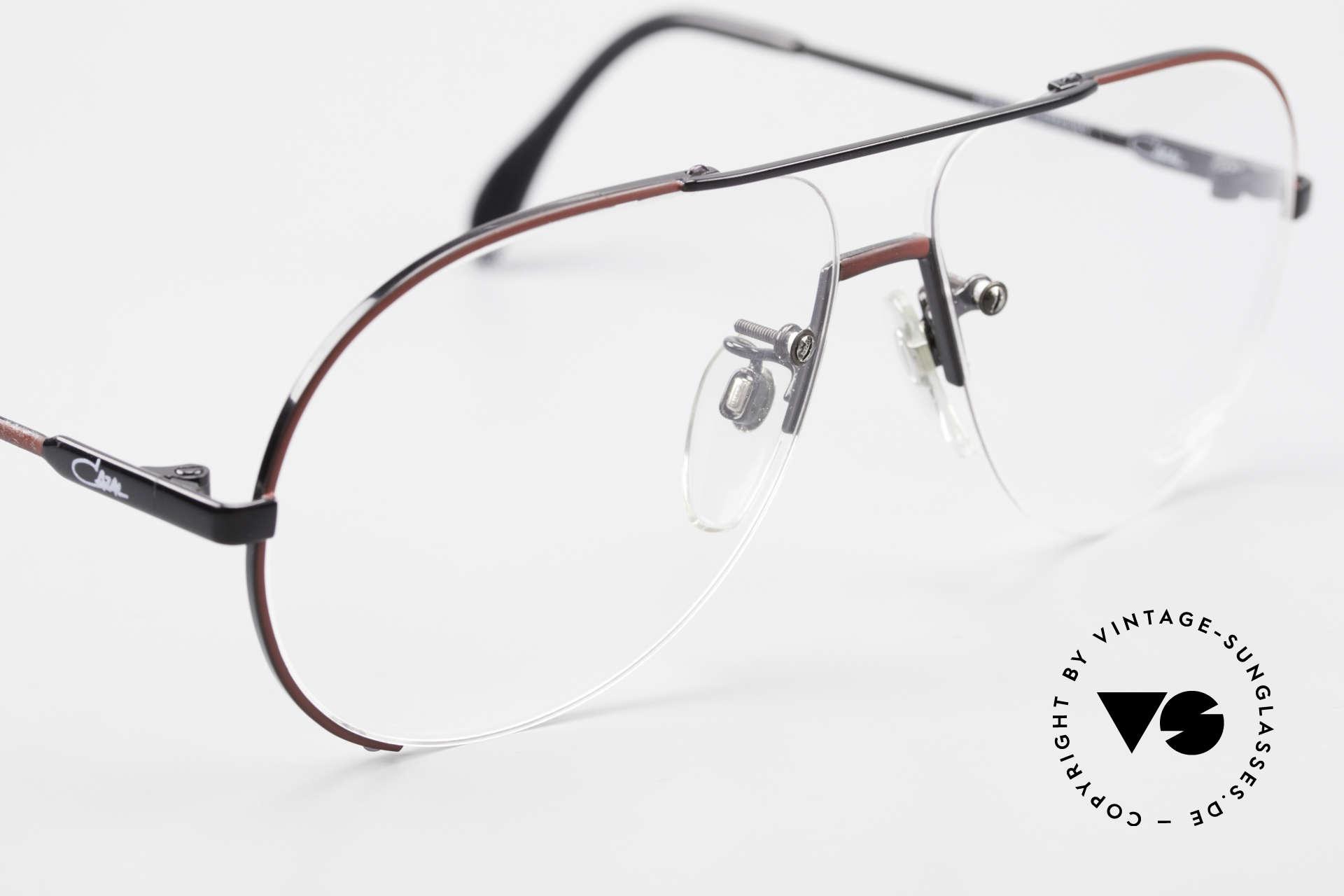 Cazal 723 Rimless 80's Aviator Glasses, unworn (like all our 80's Cazal eyewear); size 60/13, Made for Men