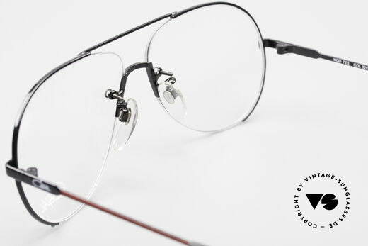 Cazal 723 Rimless 80's Aviator Glasses, the demo lenses can be replaced with prescriptions, Made for Men