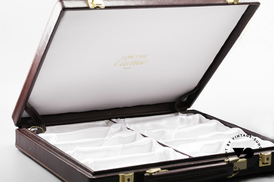 Cartier_ Case For 10 Glasses For all vintage Cartiers Frames, leather case in 'CARTIER BORDEAUX' coloring, Made for Men and Women