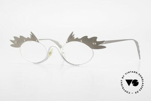 Theo Belgium Karo Vintage Ladies Eyeglasses 90's Details