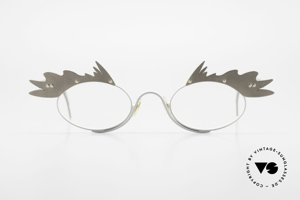 Theo Belgium Karo Vintage Ladies Eyeglasses 90's, founded in 1989 as 'opposite pole' to the 'mainstream', Made for Women