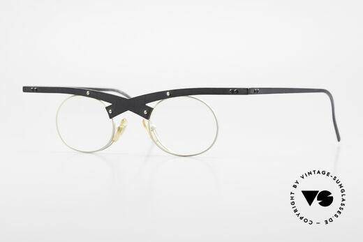 Theo Belgium Hio 11S Crazy 90's Vintage Eyeglasses Details