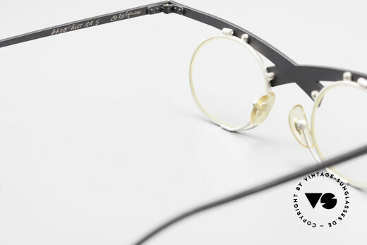 Theo Belgium Hio 11S Crazy 90's Vintage Eyeglasses, clear DEMO lenses should be replaced with prescriptions, Made for Men and Women