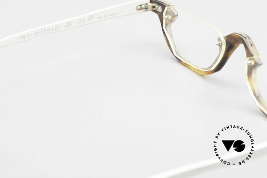 Theo Belgium Eye-Witness AE17 Crazy Reading Glasses Titanium, for instance: lenses are fixed with screws at the frame, Made for Men and Women