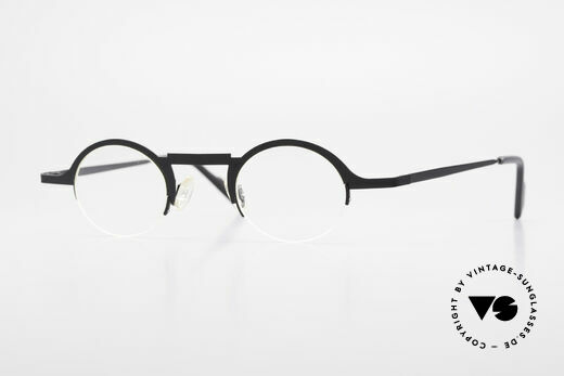 Theo Belgium Triptrio Round Designer Eyeglasses Details