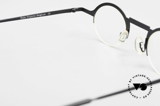 Theo Belgium Triptrio Round Designer Eyeglasses, demo lenses can be replaced with optical (sun) lenses, Made for Men and Women