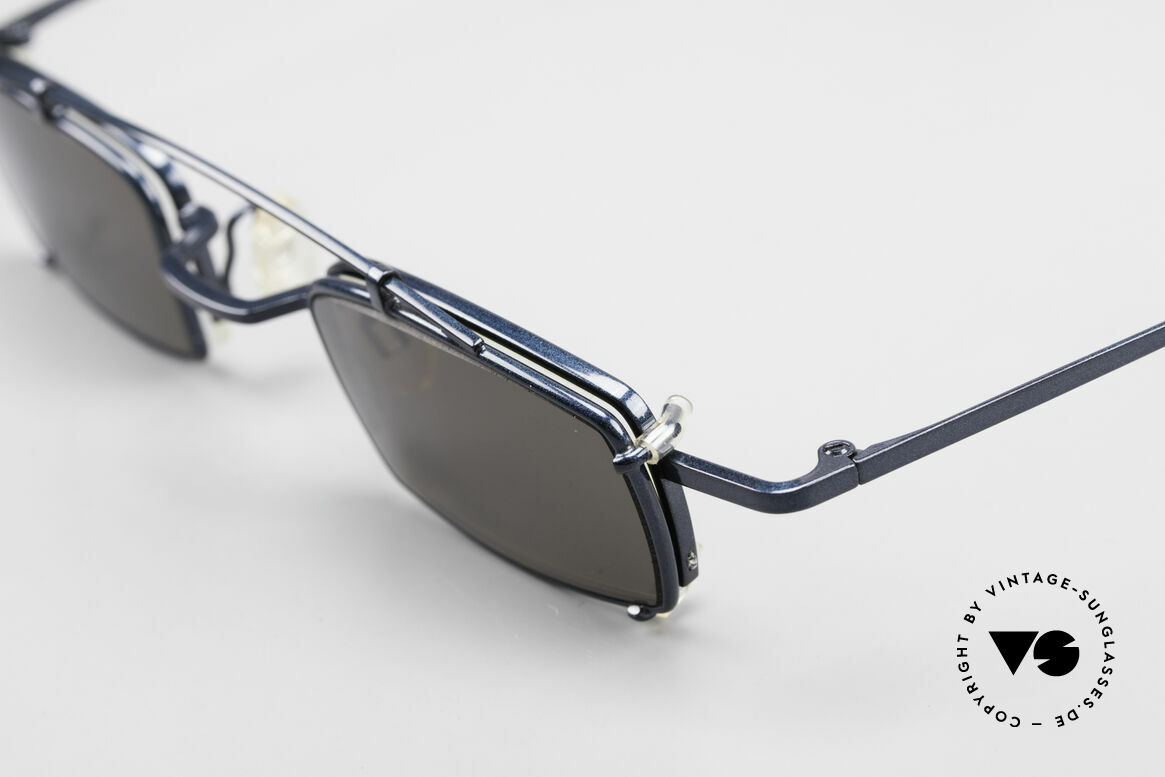 Theo Belgium Mele Square Clip On Designer Frame, square frame construction with removalble SunClip-On, Made for Men and Women