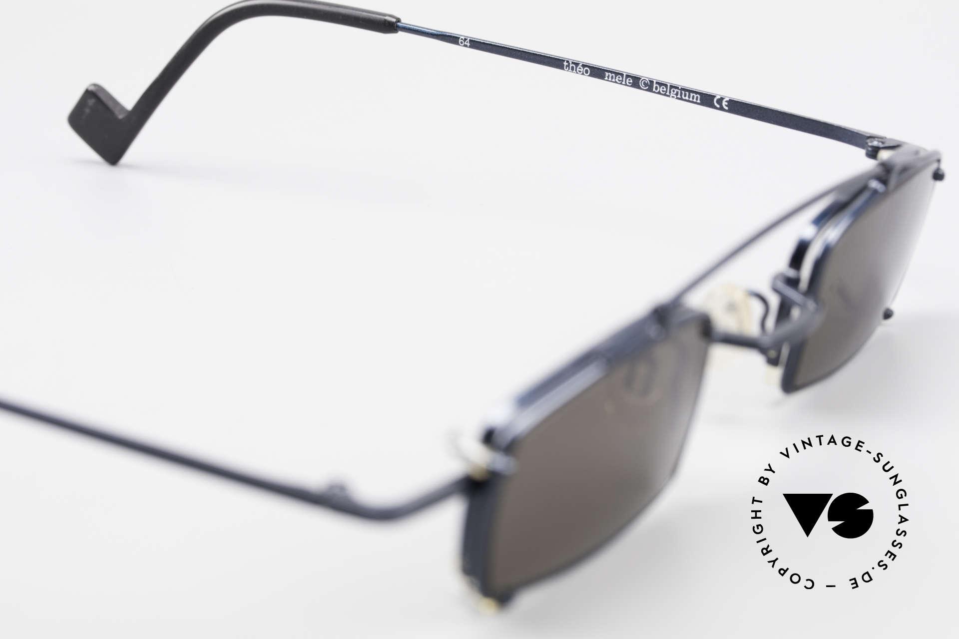 Theo Belgium Mele Square Clip On Designer Frame, so to speak: vintage sunglasses with representativeness, Made for Men and Women
