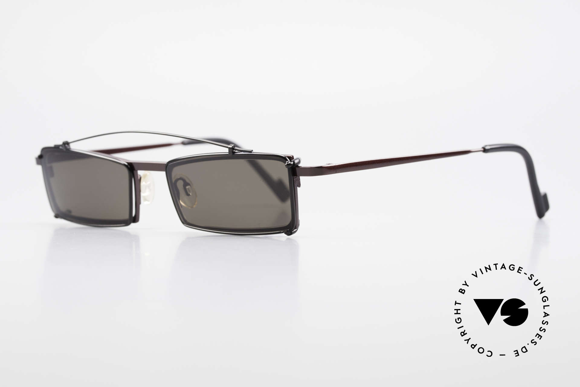 Theo Belgium XXM Clip On Designer Frame Square, made for the avant-garde, individualists, trend-setters, Made for Men and Women