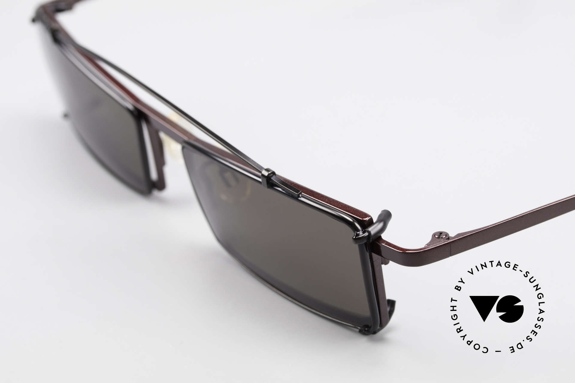 Theo Belgium XXM Clip On Designer Frame Square, square frame construction with removalble SunClip-On, Made for Men and Women