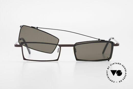 Theo Belgium XXM Clip On Designer Frame Square, Size: large, Made for Men and Women
