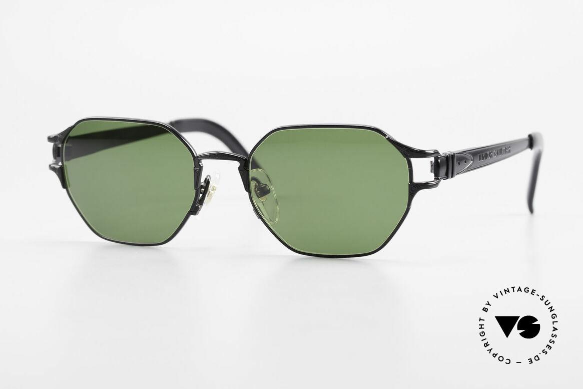 Jean Paul Gaultier 58-4173 Square JPG 90's Designer Shades, 90's designer sunglasses by Jean Paul Gaultier, Made for Men and Women