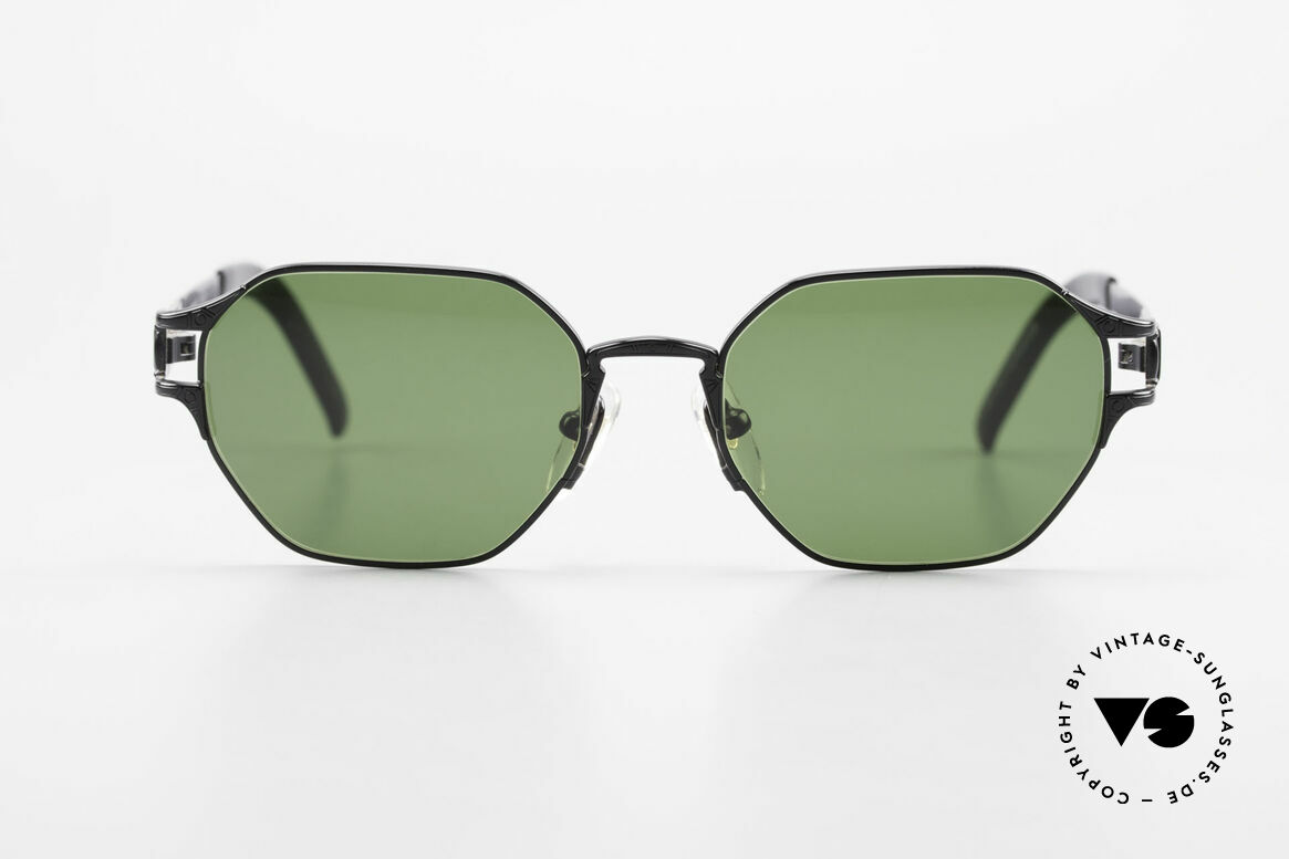 "Jean Paul Gaultier 58-4173 Square JPG 90's Designer Shades, with some subtle ""J.P.G."" details on the frame, Made for Men and Women"