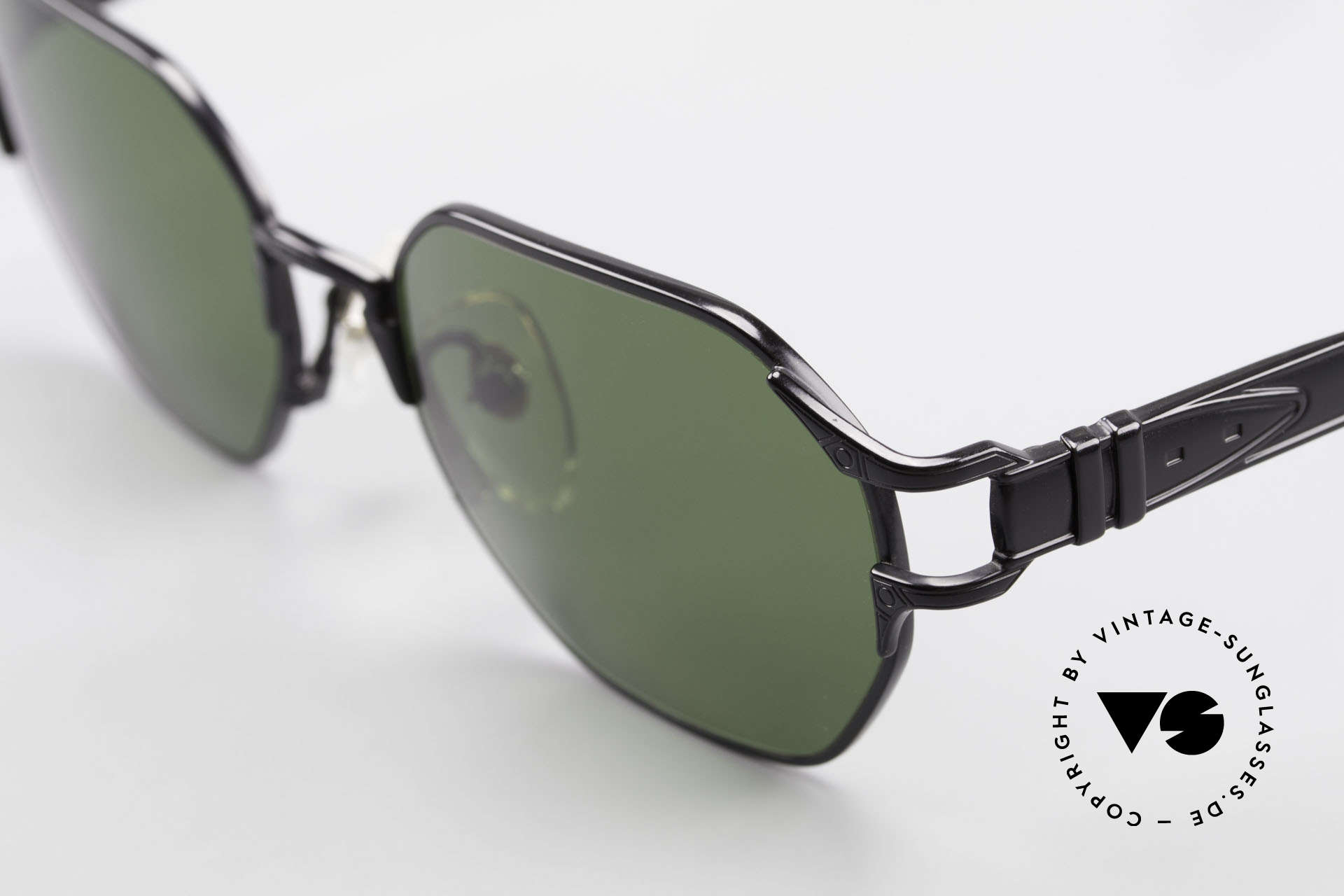 Jean Paul Gaultier 58-4173 Square JPG 90's Designer Shades, high-end CR39 sun lenses (100% UV protection), Made for Men and Women