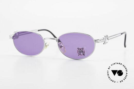 Jean Paul Gaultier 57-5101 Oval JPG Vintage Sunglasses Details