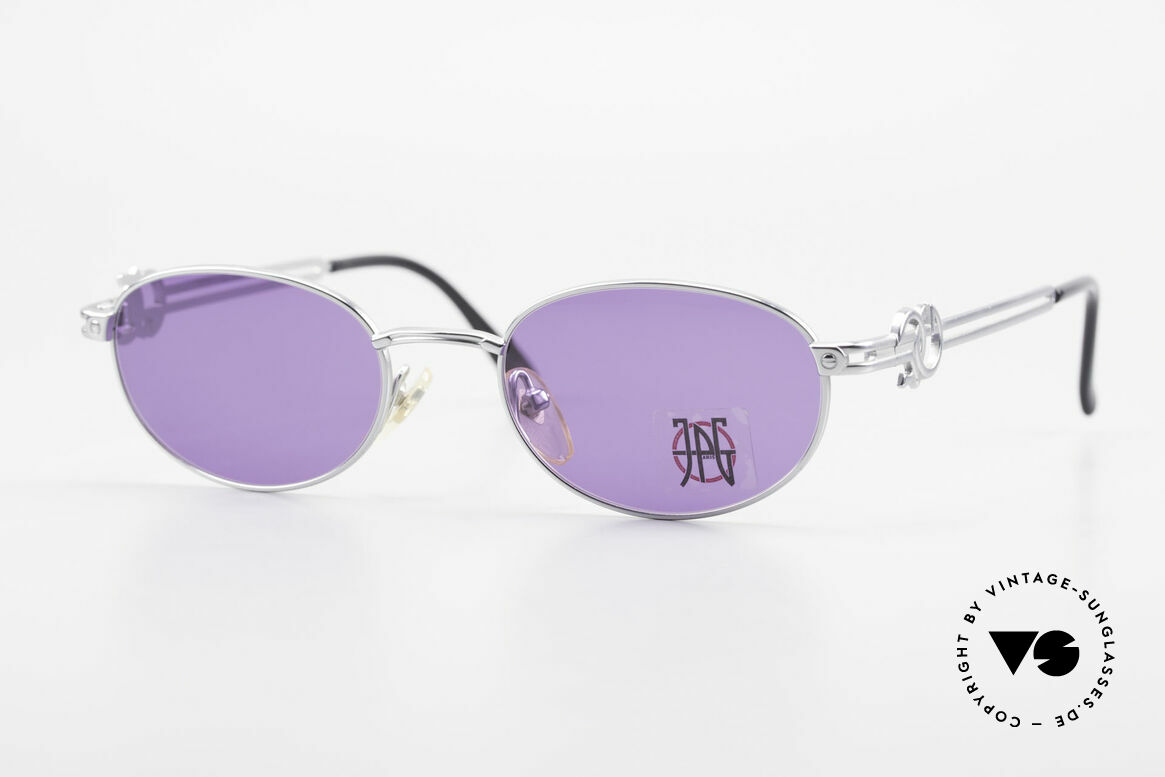 Jean Paul Gaultier 57-5101 Oval JPG Vintage Sunglasses, oval vintage sunglasses by Jean Paul GAULTIER, Made for Men and Women