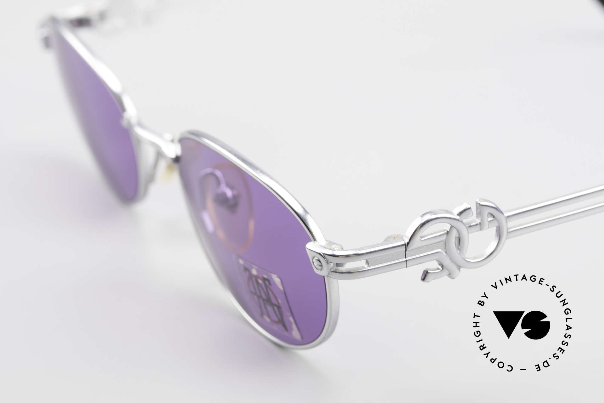 Jean Paul Gaultier 57-5101 Oval JPG Vintage Sunglasses, unused (like all our Jean P. Gaultier sunglasses), Made for Men and Women