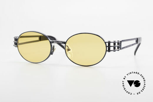 Yohji Yamamoto 52-6102 Industrial Oval Vintage Shades Details