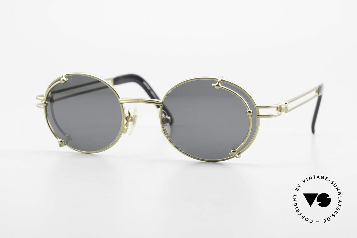 Yohji Yamamoto 52-4107 Oval 90's Designer Sunglasses, extraordinary vintage Yohji Yamamoto shades of the 90's, Made for Men and Women