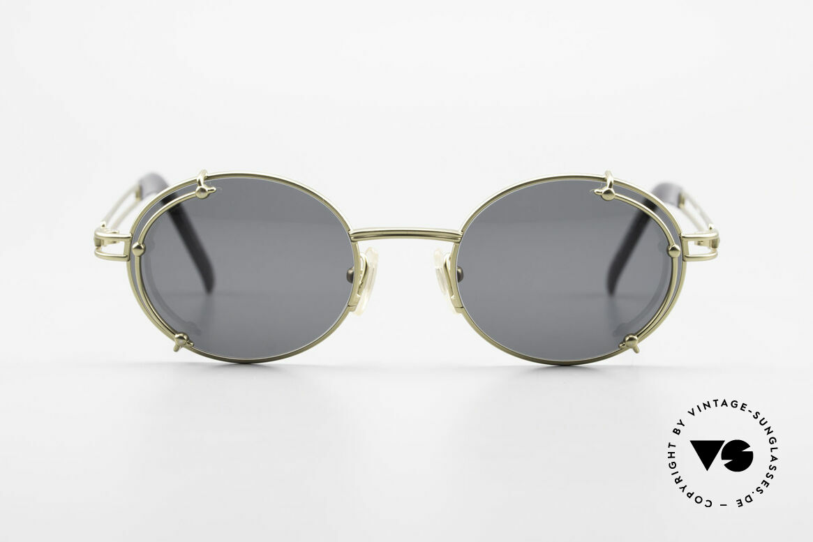 Yohji Yamamoto 52-4107 Oval 90's Designer Sunglasses, costly (monolithic) frame construction; You must feel it!, Made for Men and Women