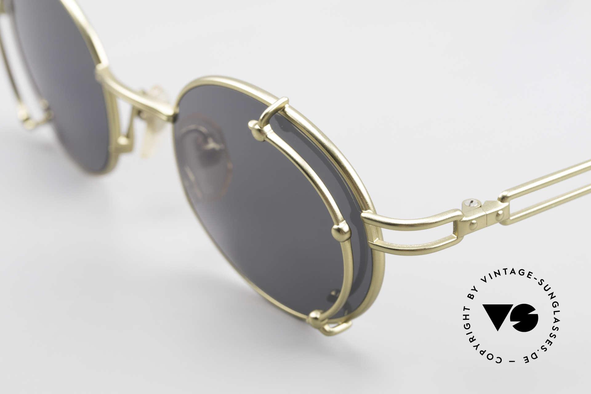 Yohji Yamamoto 52-4107 Oval 90's Designer Sunglasses, unused (like all our Haute Couture designer sunglasses), Made for Men and Women