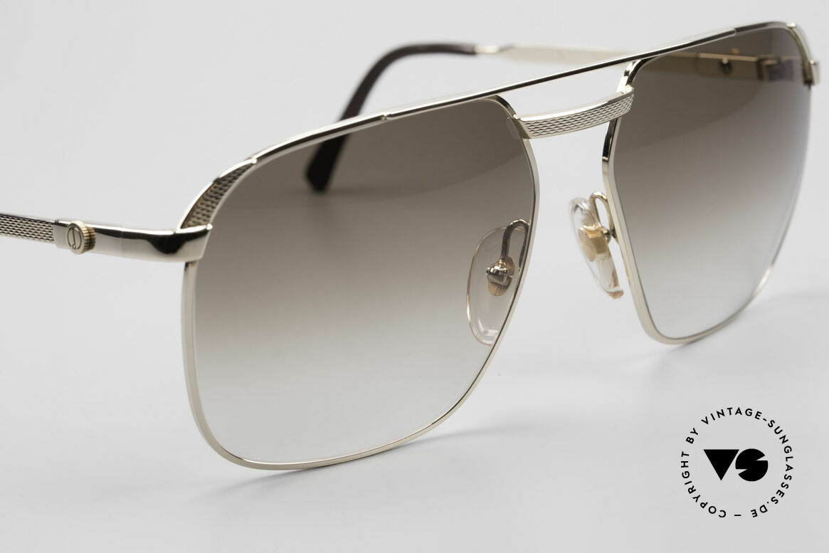 Dunhill 6011 Gold Plated 80's Sunglasses, unworn, NOS (like all our vintage Dunhill sunglasses), Made for Men