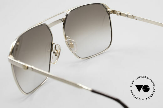 Dunhill 6011 Gold Plated 80's Sunglasses, NO RETRO frame, but a precious old original from 1984, Made for Men