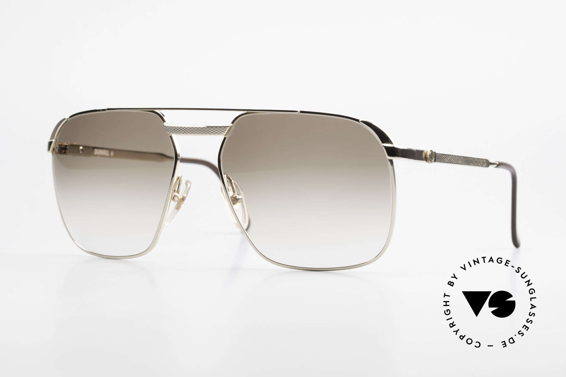 Dunhill 6011 Gold Plated 80's Sunglasses, masterpiece of style, quality, functionality and design, Made for Men