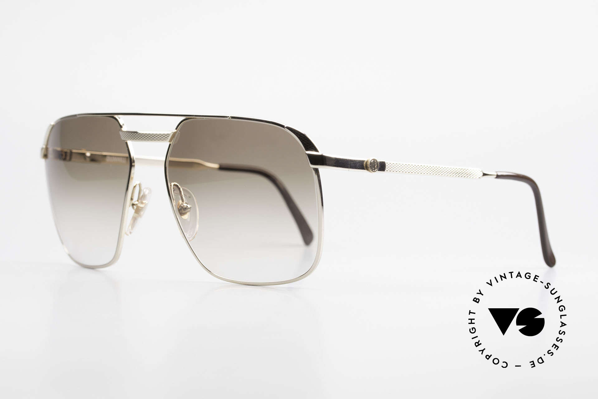Dunhill 6011 Gold Plated 80's Sunglasses, costly, GOLD-PLATED frame in LARGE size 62-17, 135, Made for Men
