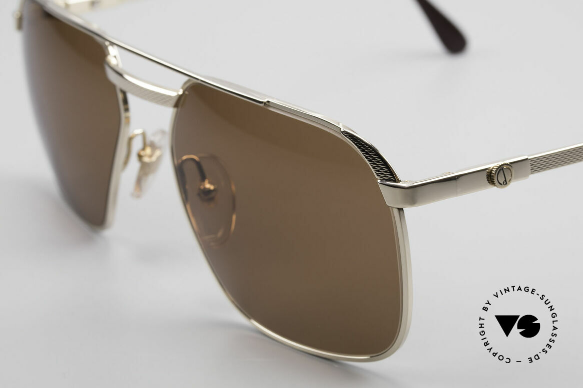 Dunhill 6011 Gold Plated Sunglasses 80's, 'barley': hundreds of minute facets to give a soft sheen, Made for Men