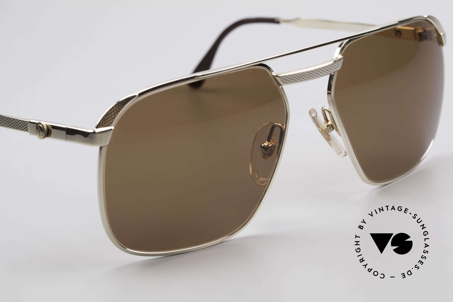 Dunhill 6011 Gold Plated Sunglasses 80's, unworn, NOS (like all our VINTAGE Dunhill sunglasses), Made for Men