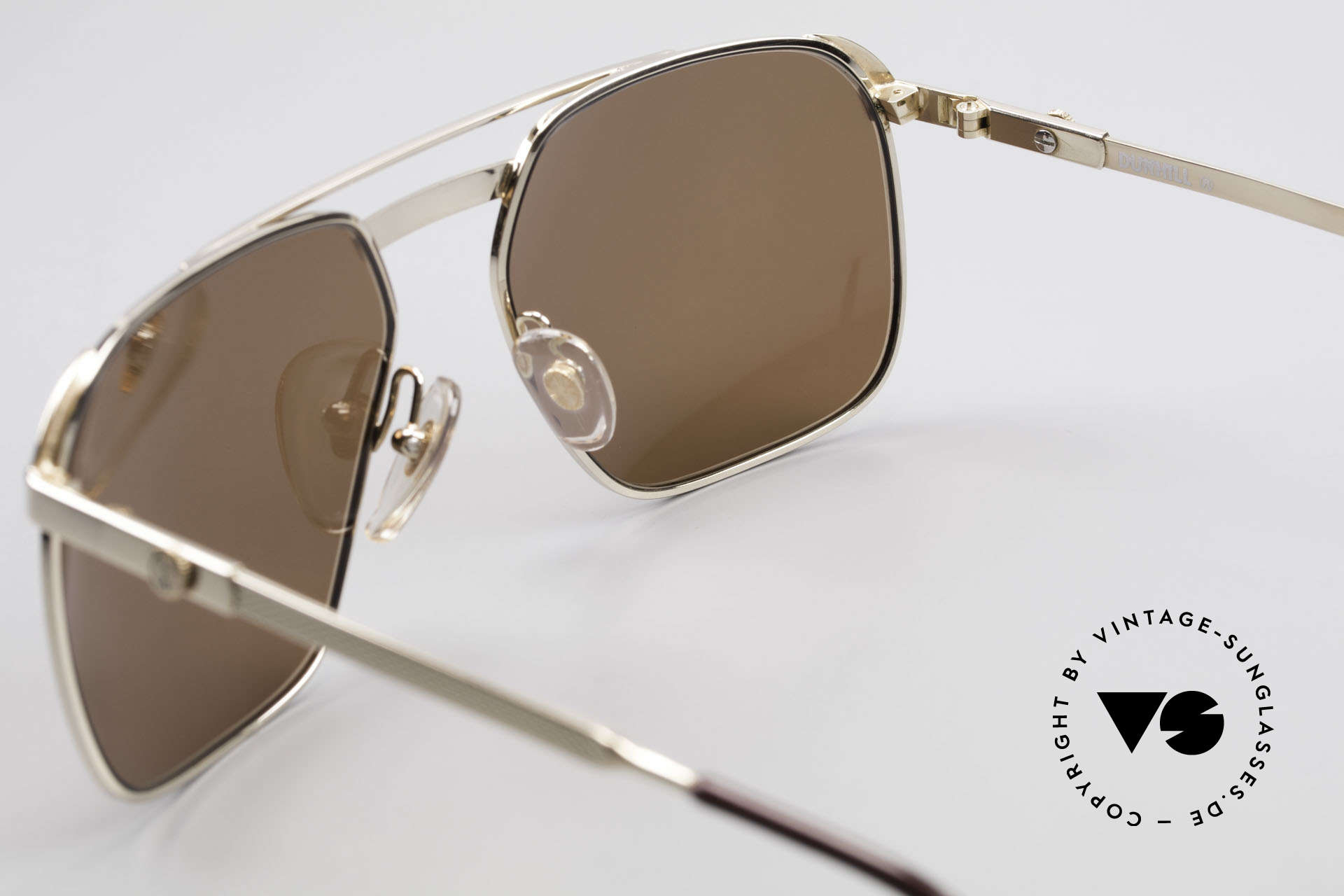 Dunhill 6011 Gold Plated Sunglasses 80's, NO RETRO frame, but a precious old original from 1984, Made for Men
