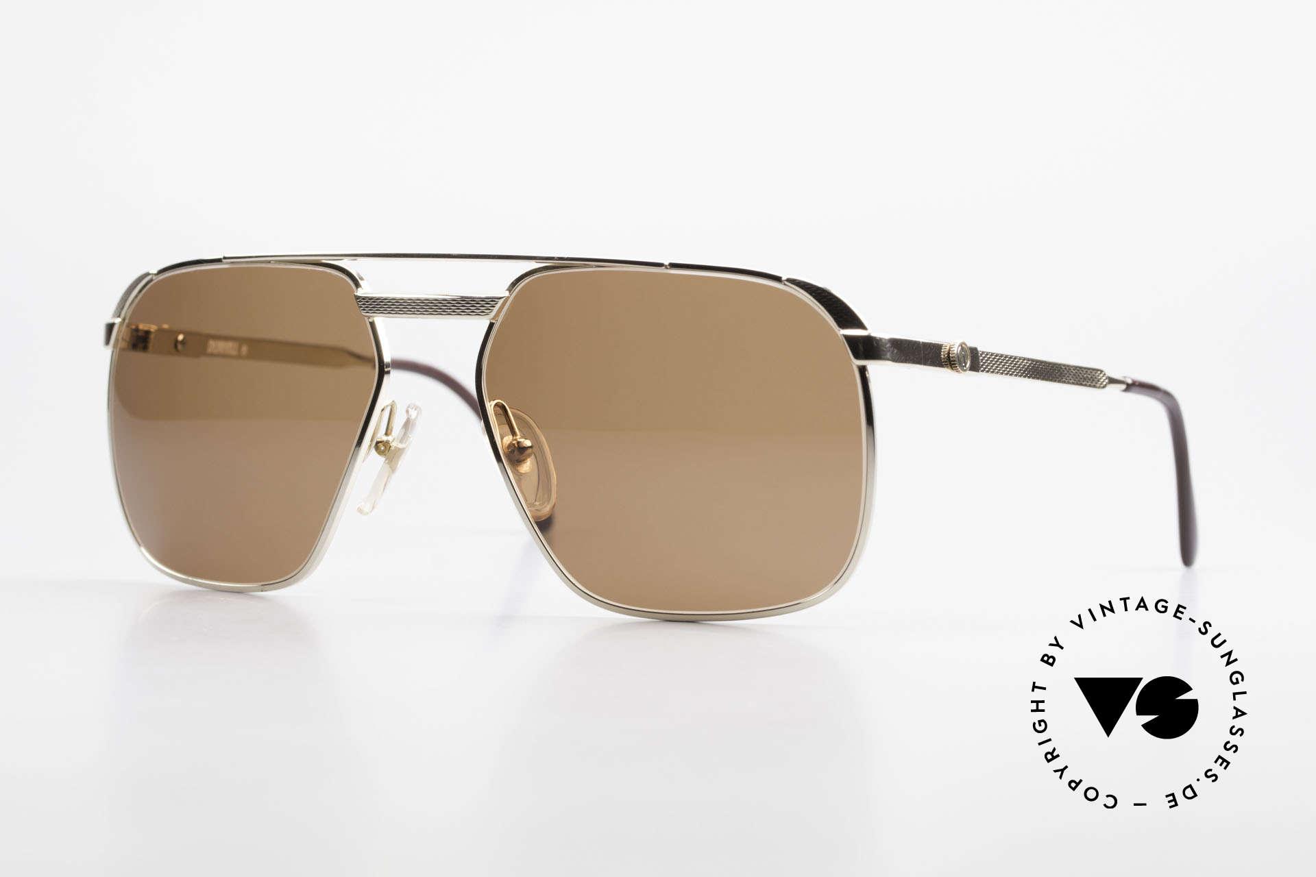 Dunhill 6011 Gold Plated Sunglasses 80's, masterpiece of style, quality, functionality and design, Made for Men