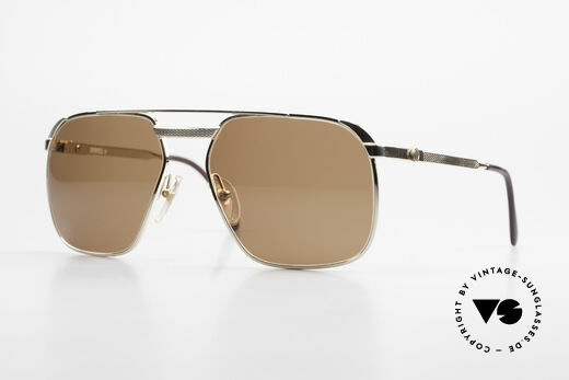Dunhill 6011 Gold Plated Sunglasses 80's Details