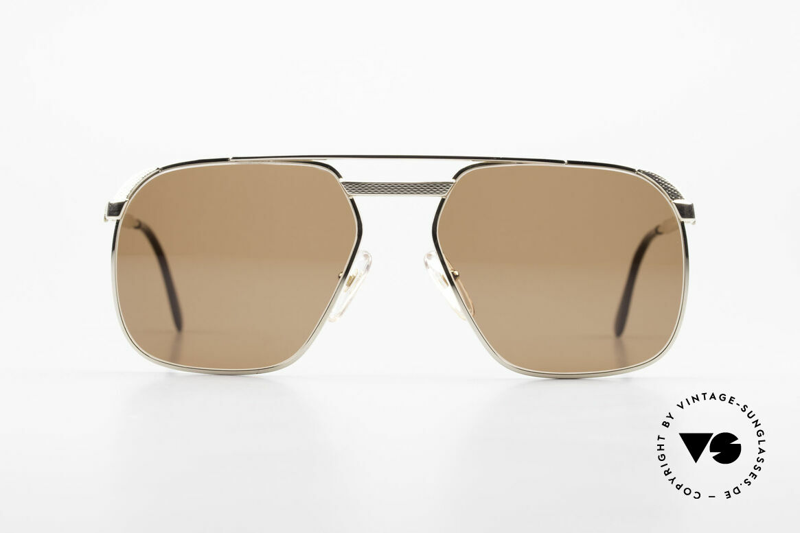 Dunhill 6011 Gold Plated Sunglasses 80's, noble DUNHILL vintage 80's sunglasses for gentlemen, Made for Men